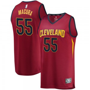 Youth J.P. Macura Cleveland Cavaliers Fanatics Branded Swingman Wine Fast Break Jersey - Iconic Edition