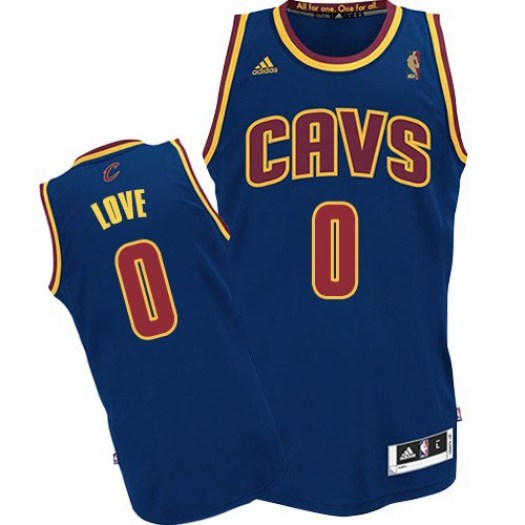 Men's Kevin Love Cleveland Cavaliers Adidas Authentic Navy Blue CavFanatic Jersey