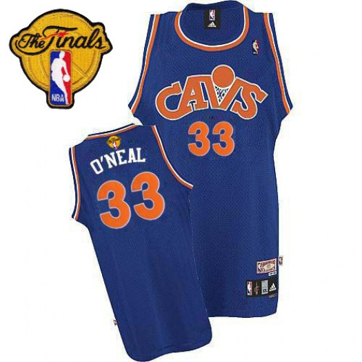 Men's Shaquille O'Neal Cleveland Cavaliers Mitchell and Ness Swingman Blue CAVS Throwback 2016 The Finals Patch Jersey